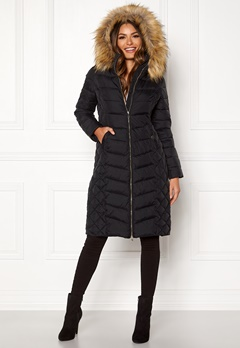 Happy Holly Sadie long jacket Black Bubbleroom.no