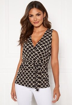Happy Holly Sam wrap top Black / Offwhite Bubbleroom.no