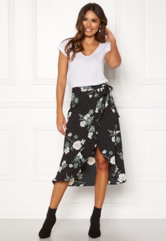 Happy Holly Sandie skirt Black / Patterned Bubbleroom.no