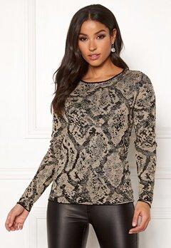 Happy Holly Sandra knitted lurex sweater Animal print Bubbleroom.no