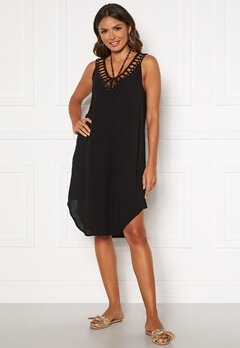 Happy Holly Sandy beach dress Black Bubbleroom.no