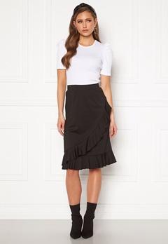 Happy Holly Sandy frill skirt  Black Bubbleroom.no