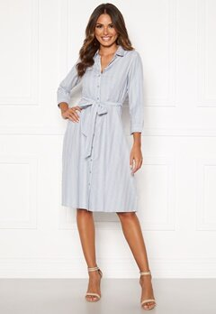 Happy Holly Sanna shirt dress Blue / Striped Bubbleroom.no