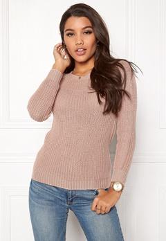 Happy Holly Sara sweater Dusty pink Bubbleroom.no