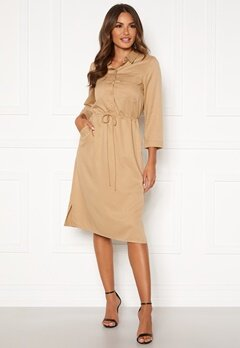 Happy Holly Sarah utility shirt dress Khaki beige Bubbleroom.no