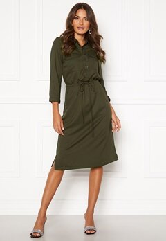 Happy Holly Sarah utility shirt dress Khaki green Bubbleroom.no