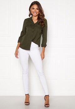 Happy Holly Sarah utility shirt Khaki green Bubbleroom.no