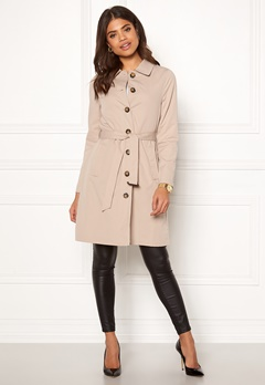 Happy Holly Scarlett coat Light beige Bubbleroom.no