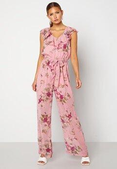 Happy Holly Scarlett Jumpsuit Pink / Floral Bubbleroom.no