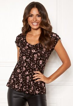 Happy Holly Scarlett top Black / Patterned Bubbleroom.no