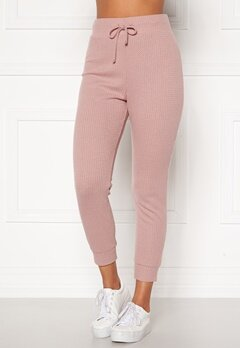 Happy Holly Selena cosy pants Dusty pink Bubbleroom.no