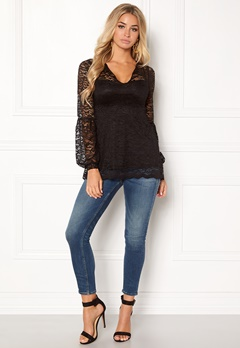 Happy Holly Simone lace top Black Bubbleroom.no