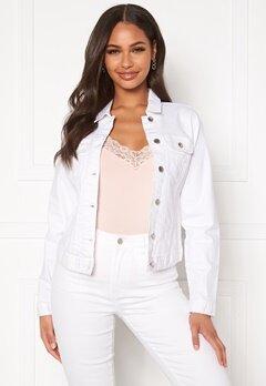 Happy Holly Skyler denim jacket White Bubbleroom.no