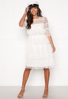 Happy Holly Smilla mesh dress White Bubbleroom.no