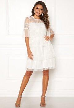 Happy Holly Smilla mesh dress White Bubbleroom.no