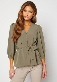 Happy Holly Suzanne blouse  Dusty green Bubbleroom.no