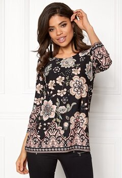 Happy Holly Taylor top Black / Patterned Bubbleroom.no