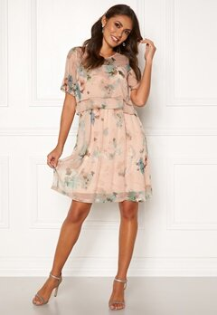 Happy Holly Teodora occasion dress Dusty pink / Patterned Bubbleroom.no