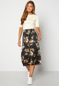Happy Holly Teresa skirt Black / Patterned Bubbleroom.no