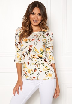 Happy Holly Tereza top Offwhite / Patterned Bubbleroom.no