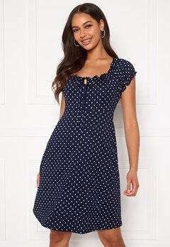 Happy Holly Tessan dress Dark blue / Patterned Bubbleroom.no