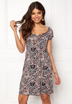 Happy Holly Tessan dress Pink / Patterned Bubbleroom.no