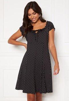 Happy Holly Tessan dress Offwhite / Black Bubbleroom.no