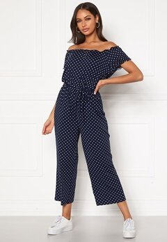 Happy Holly Tessan jumpsuit Dark blue / Patterned Bubbleroom.no
