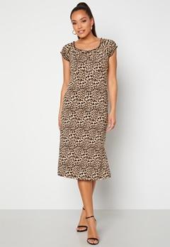 Happy Holly Tessan midi dress Leopard Bubbleroom.no