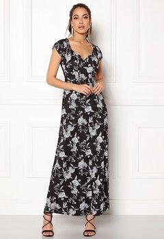 Happy Holly Tessie maxi dress Black / Offwhite Bubbleroom.no