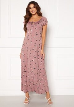 Happy Holly Tessie maxi dress Dusty pink / Patterned Bubbleroom.no