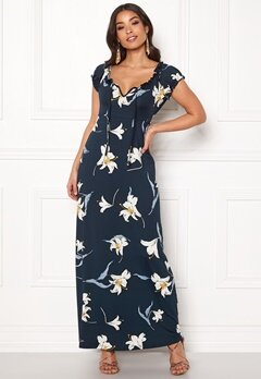Happy Holly Tessie maxi dress Dark blue / Patterned Bubbleroom.no