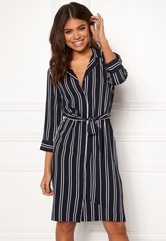 Happy Holly Thea shirt dress Striped Bubbleroom.no