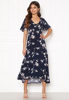 Happy Holly Therese dress Dark blue / Floral bubbleroom.no