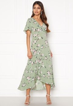 Happy Holly Therese dress Dusty green / Floral bubbleroom.no