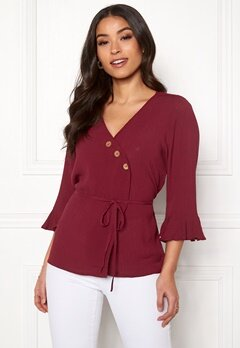 Happy Holly Tilly blouse Brick-red Bubbleroom.no