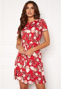 Happy Holly Tova ss dress Red / Patterned Bubbleroom.no