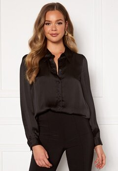 Happy Holly Trinity shirt blouse Black Bubbleroom.no