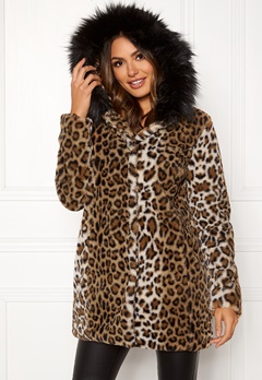 Happy Holly Trinny coat Leopard Bubbleroom.no