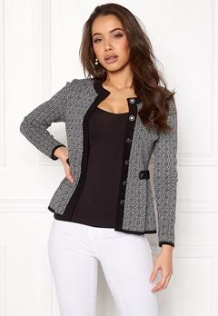 Happy Holly Tyra cardigan Black / Offwhite Bubbleroom.no