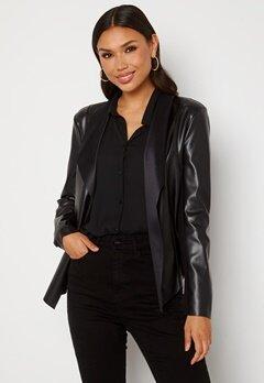 Happy Holly Vera PU jacket Black bubbleroom.no