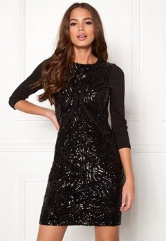 Happy Holly Winnie sequin dress Black Bubbleroom.no