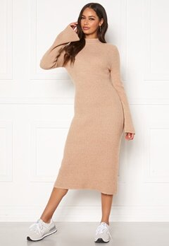 Happy Holly Winnie sweater dress Beige melange Bubbleroom.no