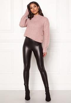Happy Holly Andrea coated leggings Black Bubbleroom.no