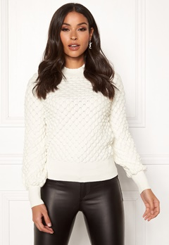 Happy Holly Mathilda bubble sweater Offwhite Bubbleroom.no
