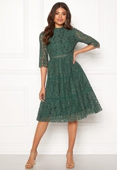 Happy Holly Madison lace dress Dusty green Bubbleroom.no