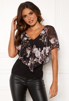 Happy Holly Fanny top Black / Patterned Bubbleroom.no