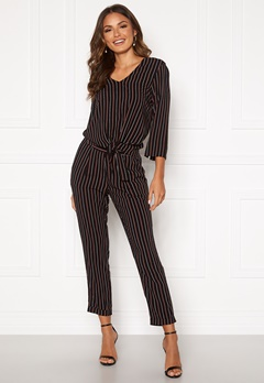 Happy Holly Thea pants Black / Striped Bubbleroom.no