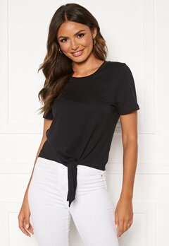 Happy Holly Malin knot top Black Bubbleroom.no