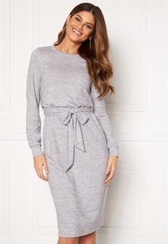 Happy Holly Beatrix midi dress Grey melange Bubbleroom.no